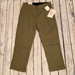 Pants - Miraclebody Cropped Jeggings olive size 4